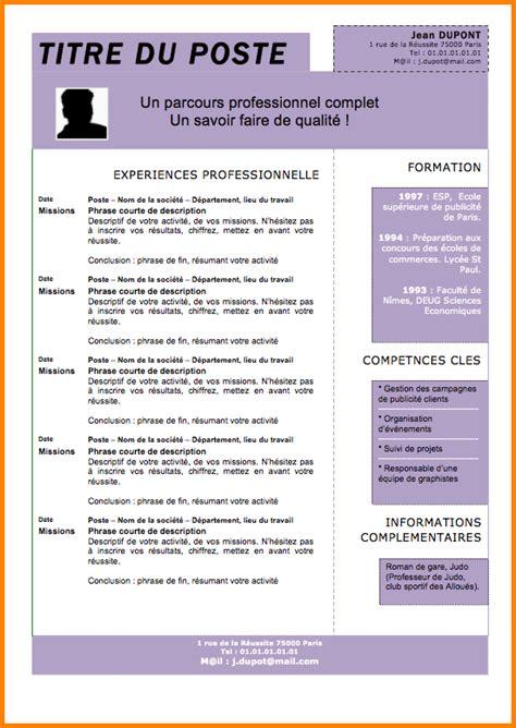 modern resume exle cv gratuit word moderne 28 images exle resume modele