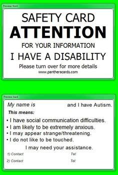 crisis card template 1000 images about autism safety wandering on