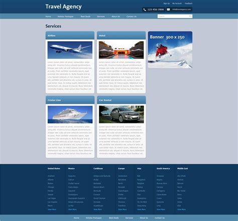 free travel website template free travel agency website template travel website