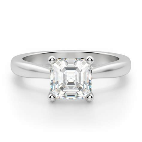 Asscher Cut Engagement Rings by Montreal Asscher Cut Engagement Ring