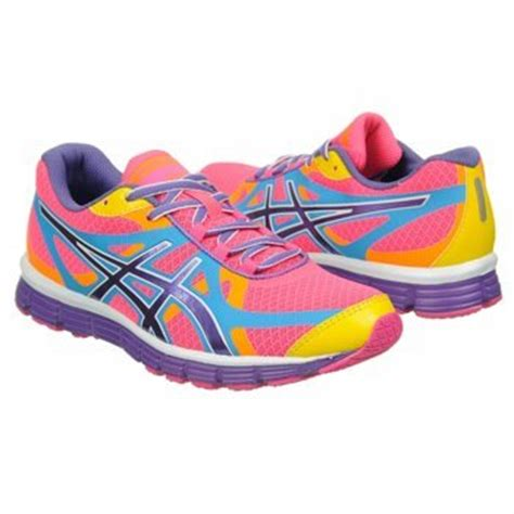 asics rainbow running shoes asics s gel extreme33 running shoe neon pink white