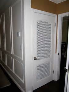 Vented Closet Doors What A Cool Idea Custom Vent Panels For A Pantry Door That Really Pops Decorative Vent Covers