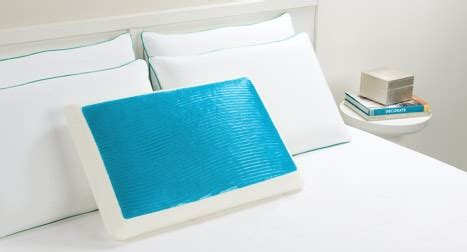 cooling bed pillow cerulean waves hydraluxe cooling gel bed pillow