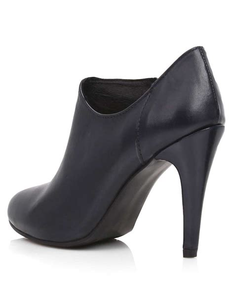 s moma leather shoe boots in navy designer