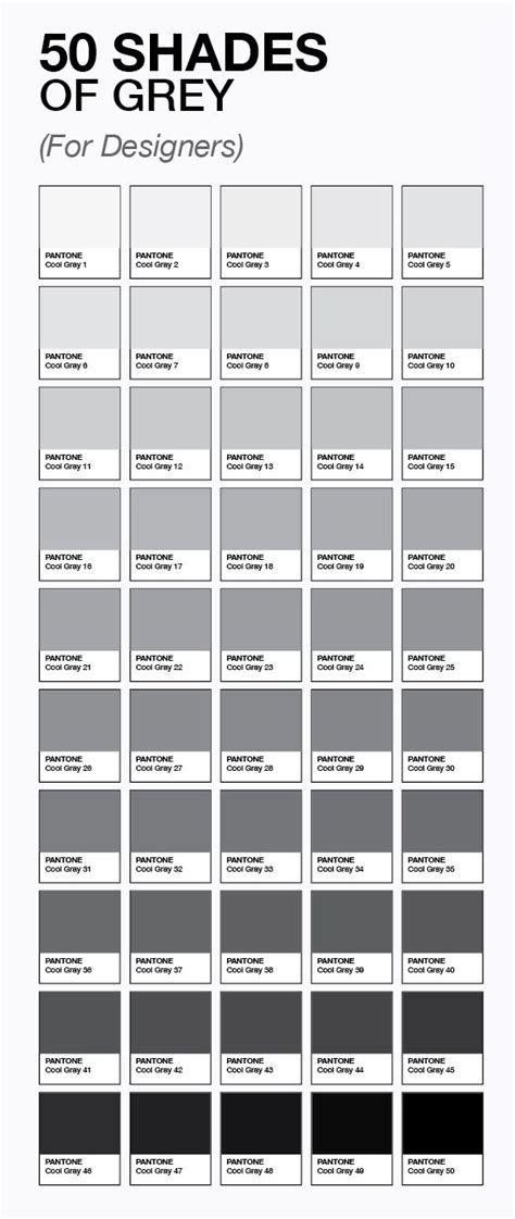 shades of gray names colorize your life colore le 50 sfumature di grigio