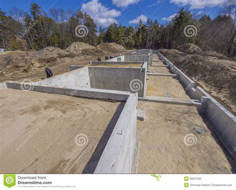 new home foundation new house foundation royalty free stock photo image