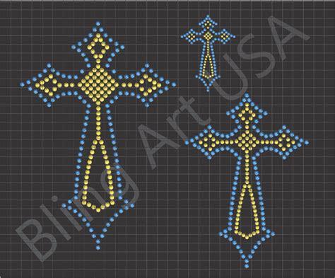 how to make rhinestone templates cross rhinestone downloads template patterns crosses bling