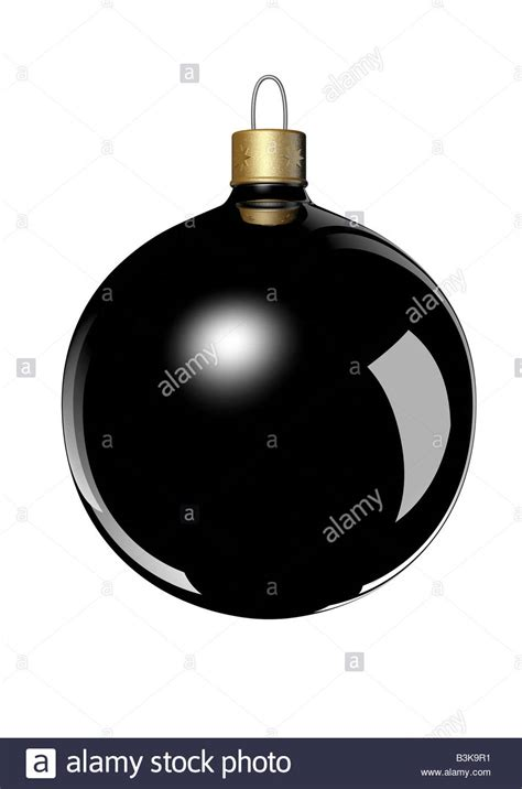 black christmas ball ornament on white backgrund schwarze