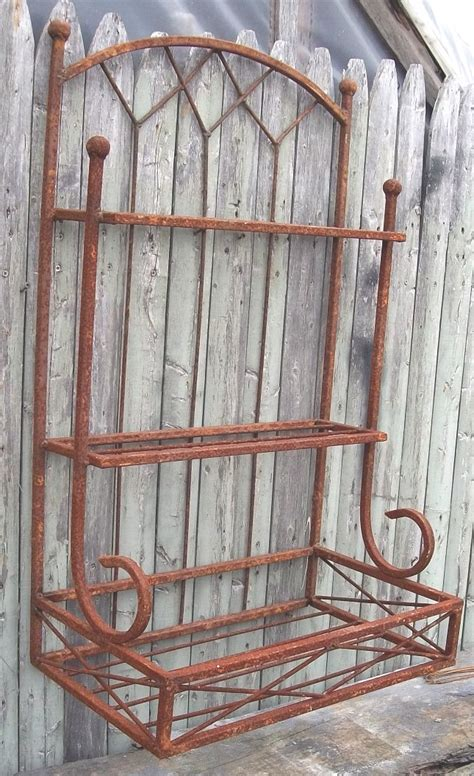 Wrought Iron Wall Planter by Wrought Iron 2 Tiered Wall Shelf With Planter Box