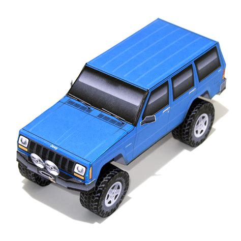 Papercraft Jeep - new model completed jeep xj 171 papercruiser
