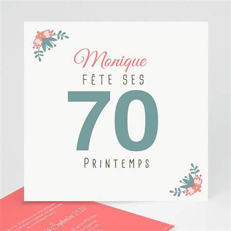 Modele De Carte D Invitation Pour Anniversaire 70 Ans
