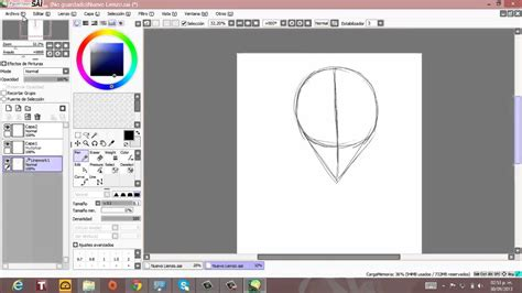 tutorial como dibujar en paint tool sai tutorial dibujo rosto anime paint tool sai