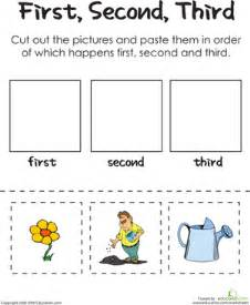 first second third a gardener s thumb worksheet
