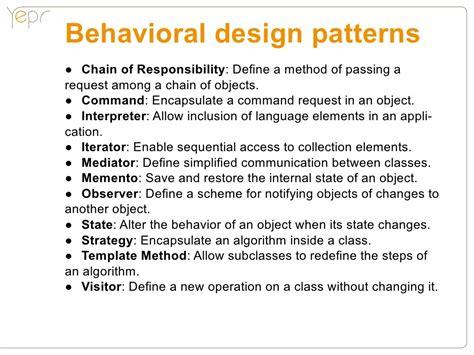 behaviour pattern en español behavioral design patterns chain