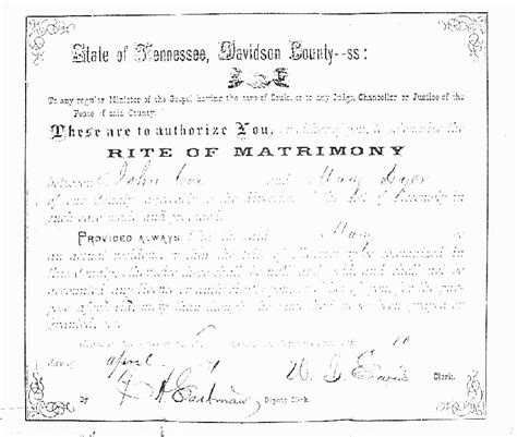 Davidson County Tn Marriage Records So Many Ancestors January 2015