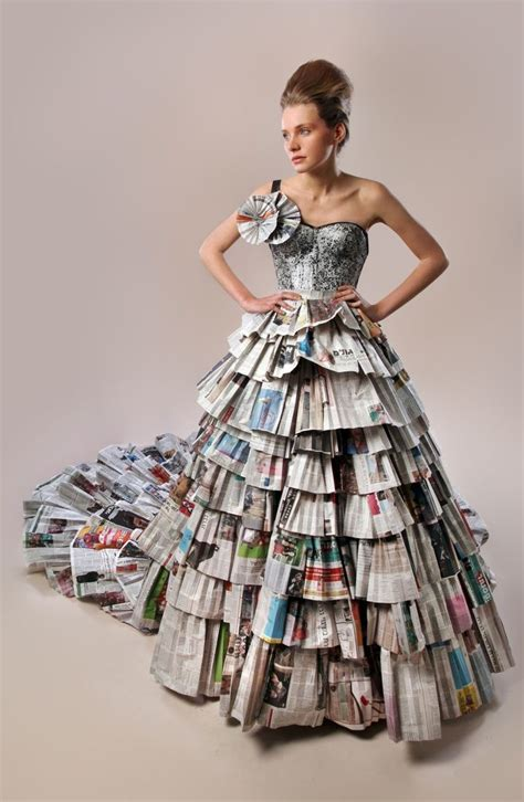 How To Make A Paper Dress To Wear - image result for how to make paper gown wear