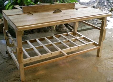 Meja Kayu Sederhana perabot kayu sederhana simply wood furniture meja gergaji kayu table saw