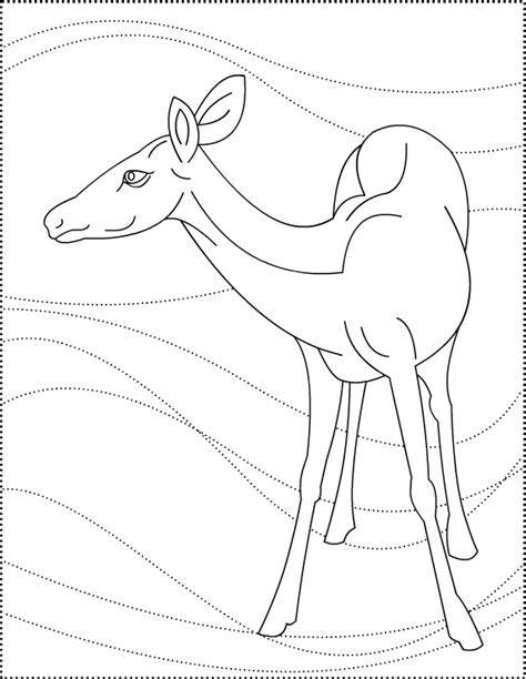 Deer Mask Coloring Pages Free Of