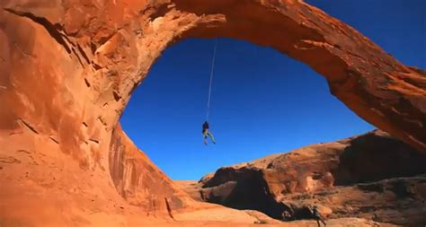 largest rope swing world s largest rope swing off corona arch in moab is