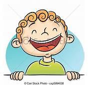 Vektor Von Junge Lachender  Abbildung