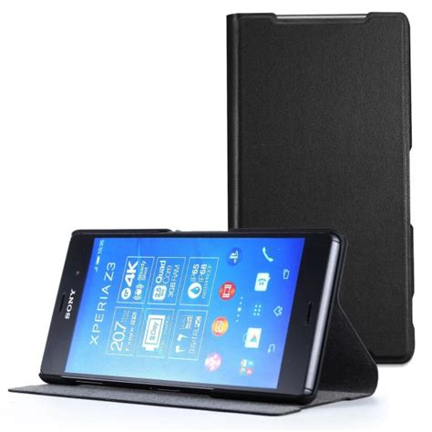 Sony Xperia Z3 Leather Wallet Casing Bumper Cover Dompet Kulit top 10 best sony xperia z3 cases and covers
