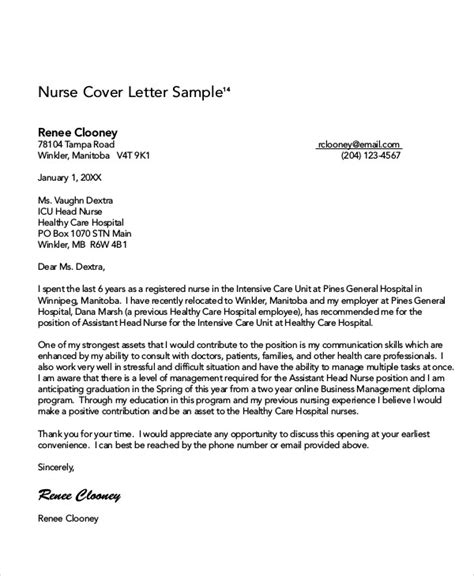 8  Nursing Cover Letter Example   Free Sample, Example