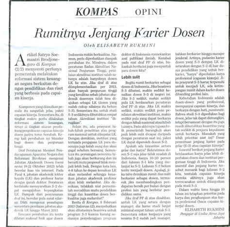 format penulisan artikel di koran kompas opini