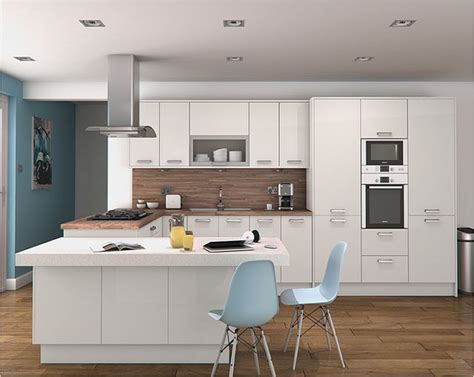 an altino white high gloss kitchen design idea http www