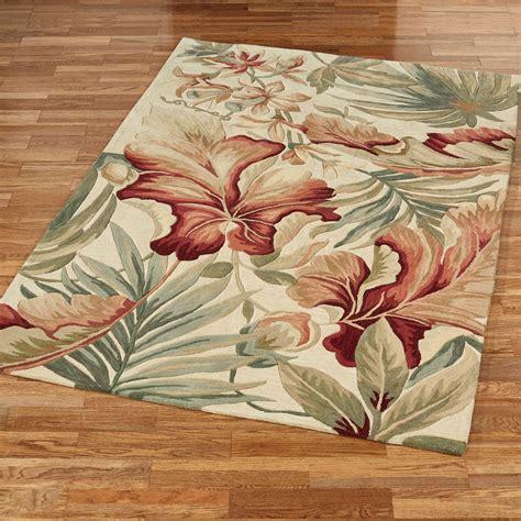 area rugs tropical tropical rugs tropical handhooked floral leaf border rug 8u0027 x tropical rugs