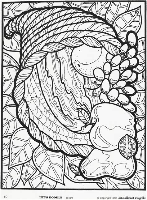 thanksgiving mosaic coloring page mosaic color sheets on pinterest dover publications