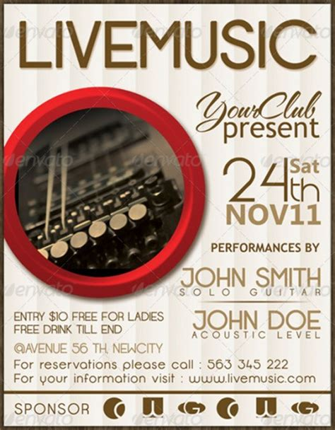 15 provoking exles of lovely music flyer template