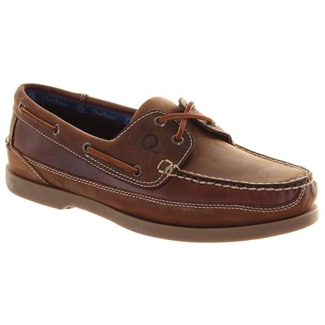 deck shoes chatham mens kayak g2 walnut lace deck shoe marshall shoes