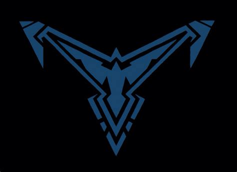 nightwing logo wallpaper wallpapersafari