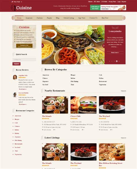 Buy Restaurant Wordpress Theme Website Template 2018 Cookbook Website Template