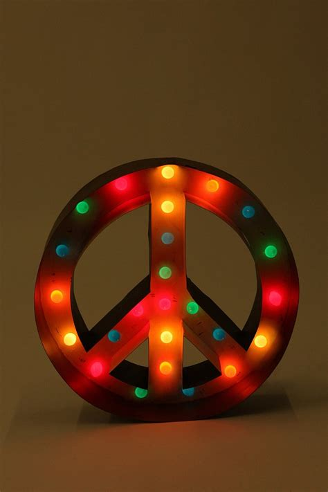 peace sign marquee light urban outfitters