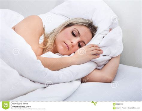 Lying On Bed by Upset Lying On Bed Stock Photo Image 56908708