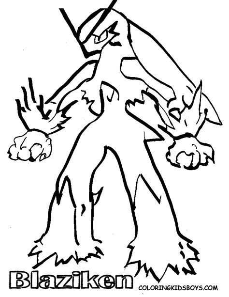 pokemon coloring pages mega blaziken blaziken quot pokemon cartoon quot coloring pages