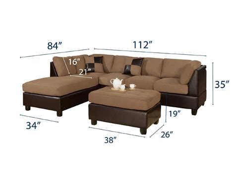 dimensions of a sectional couch dimensions of sectional sofa and bobkona hungtinton sofa