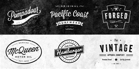 retro logo template psd 15 free vintage logo template collections