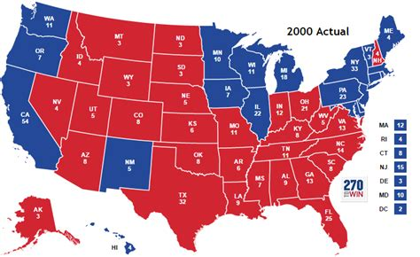 map of the united states electoral votes historical u s presidential elections 1789 2016