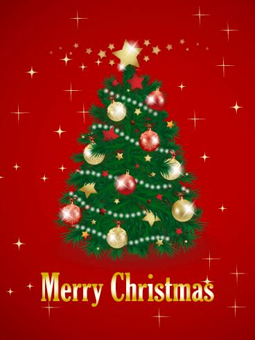 christmas tree card birthday greeting cards by davia