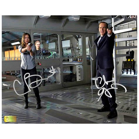 clark gregg email clark gregg and chloe bennet autographed 8x10 agents of s