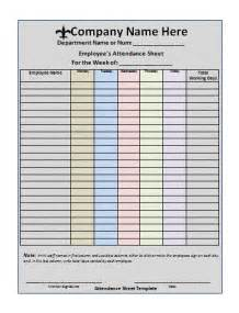 Attendance sheet template free printable word templates