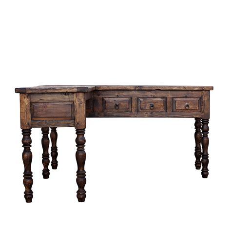 Repurposed Wood Desk by Order Newton L Shaped Reclaimed Desk