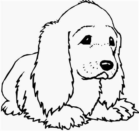 mewarnai sketsa gambar binatang anjing bahasapendidikan bahasapendidikan