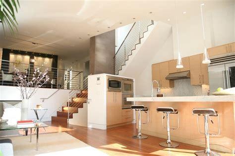 Off The Shelf Kitchen Cabinets Living Kitchen Dining Modern Living Room San