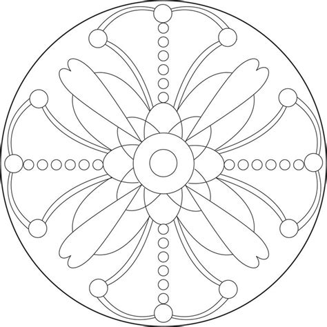 printable mandala patterns simple mandala coloring pages