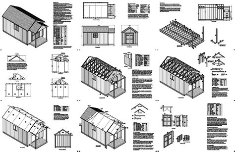 Free Shed Blueprints 12x20 by Free Storage Shed Plans 12x20 Nearya