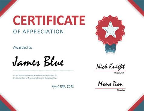 sle of certificate of appreciation 8 free printable certificates of appreciation templates