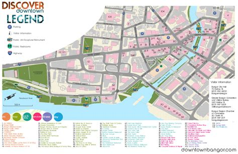 bangor maine map visit bangor maine downtown bangor